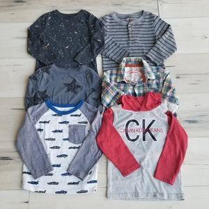 Toddler Boy Long Sleeve Shirts Lot 3T